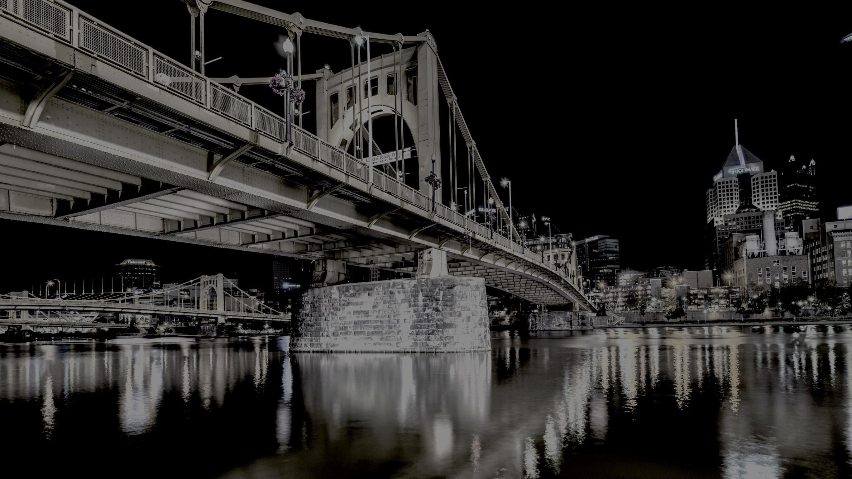 Roberto Clemente Bridge in Pittsburgh, PA