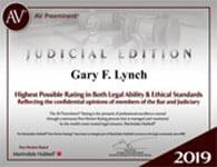 Gary Lynch 2019 Judicial Edition Badge